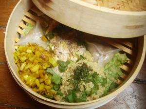 Daurade aux épices asiatiques et poireau au curcuma