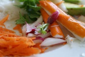 carotte - radis - surimi